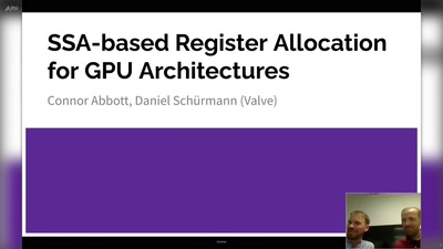 SSA-based Register Allocation for GPU Architectures