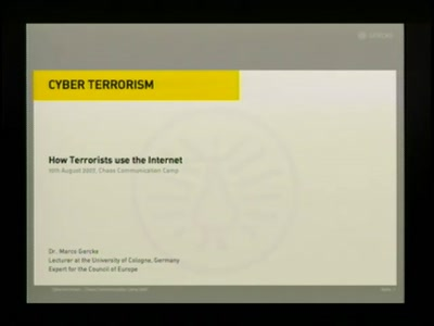 Terrorists and the Internet