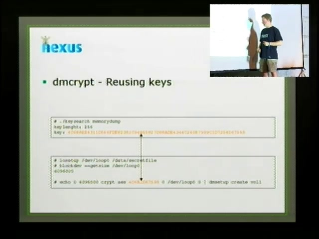 media ccc de - Cryptographic key recovery from Linux memory