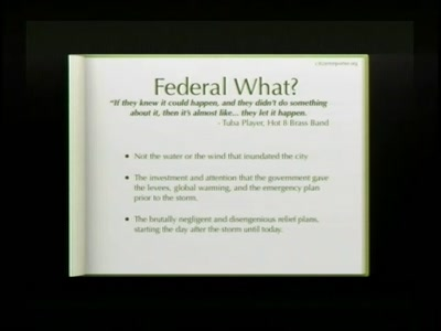 Rebellious Communication and the Federal Flood