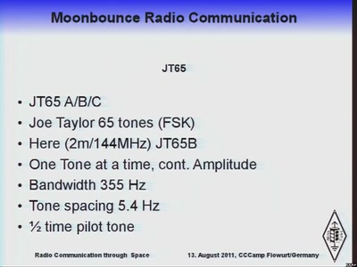 Moonbounce Radio Communication