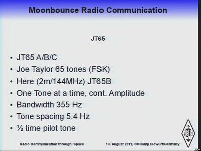 Moonbounce Radio Communication