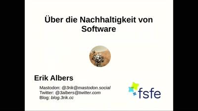 Über die Nachhaltigkeit von Software