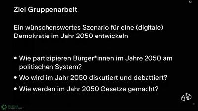(Wie) willst du die Demokratie digitalisieren? Ein Szenarioworkshop für Zukünfte