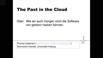 The Past in the Cloud