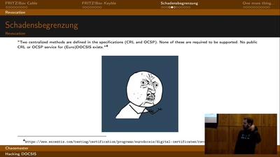 Hacking DOCSIS
