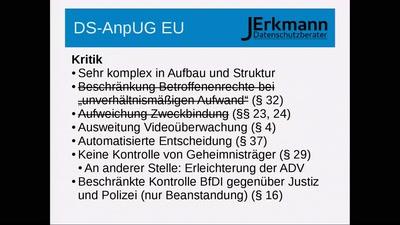 EU-DSGVO und DSAnpUG-EU