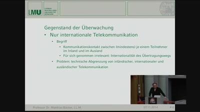 Strategische Telekommunikationsüberwachung auf dem Prüfstand