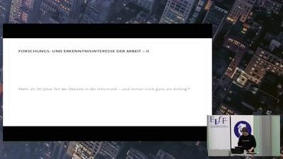 Weizenbaum-Studienpreisvergabe des FIfF