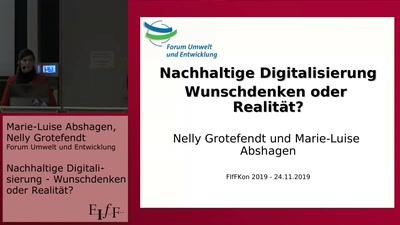 Nachhaltige Digitalisierung - Wunschdenken oder Realität?