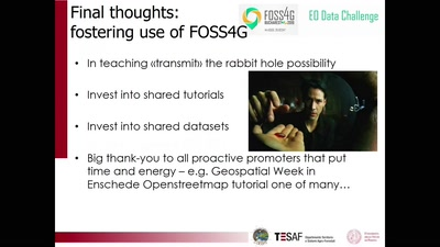 Key Aspects of Choosing to Use FOSS4G in Teaching and Projects