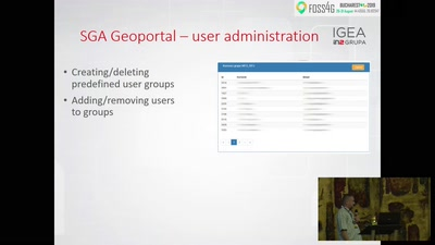 Users management, authorization and usage analysis on Croatian SGA Geoportal