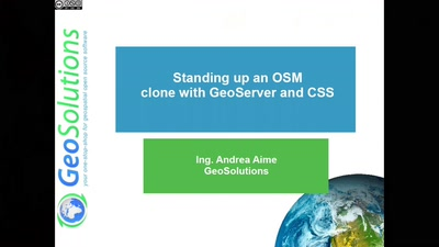 Standing up a OSM clone with GeoServer and CSS