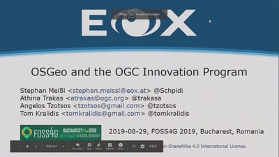 OSGeo and the OGC Innovation Program