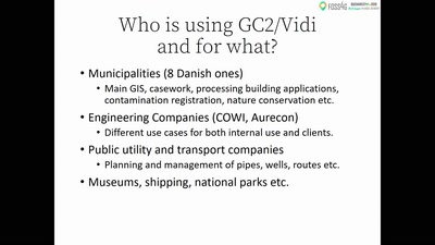 GC2/Vidi: What's new in the spatial data infrastructure project