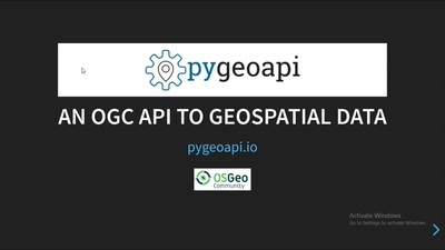 Next generation OGC web services with pygeoapi