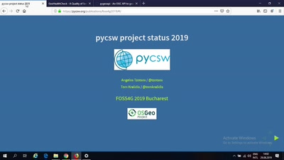 pycsw project status 2019