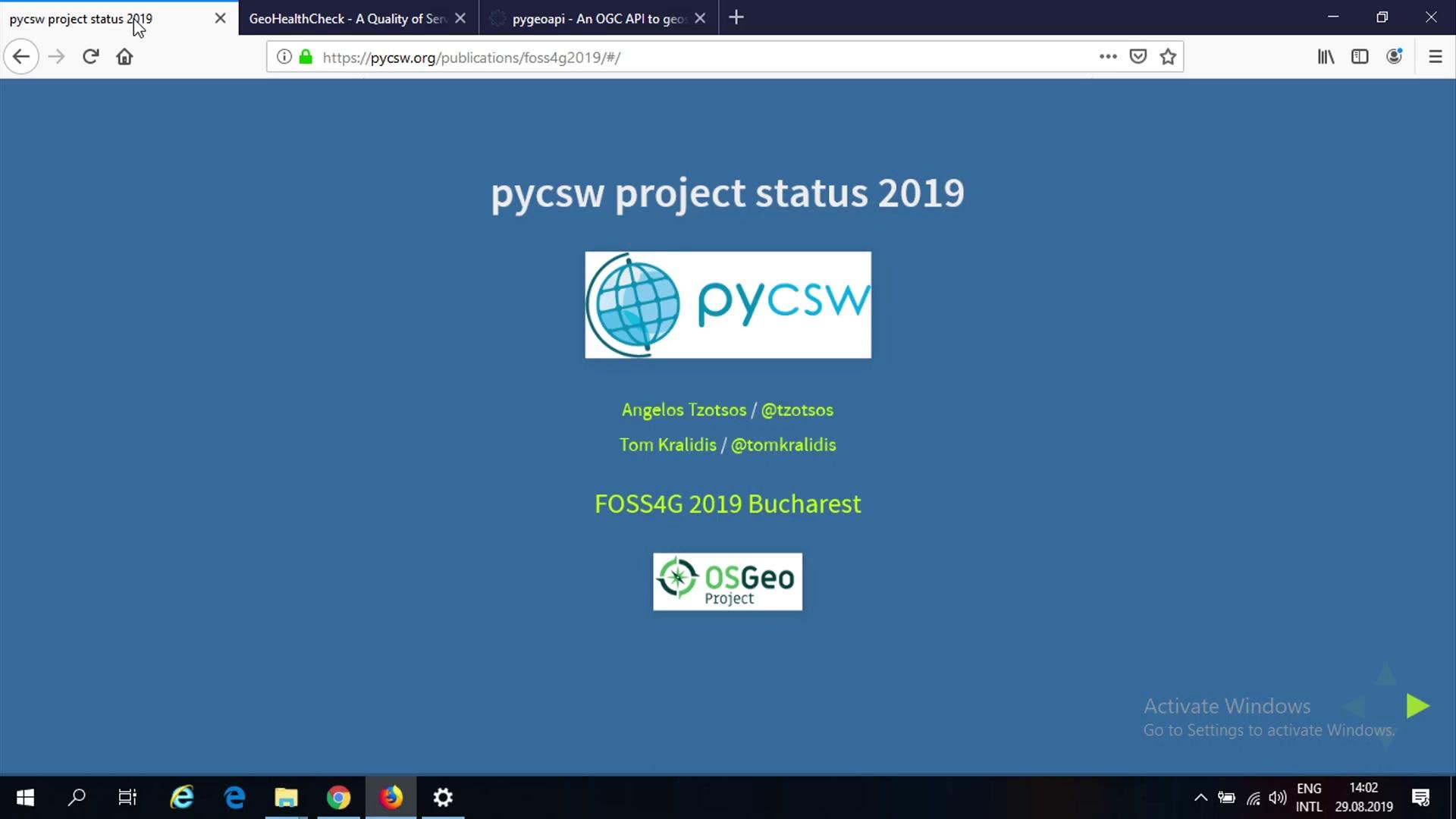media ccc de - pycsw project status 2019