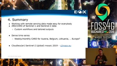 EOxCloudless: Level-3 Analysis Ready Satellite Data