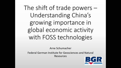 The shift of trade powers – Understanding China's growing importance in global economic activity with FOSS technologies