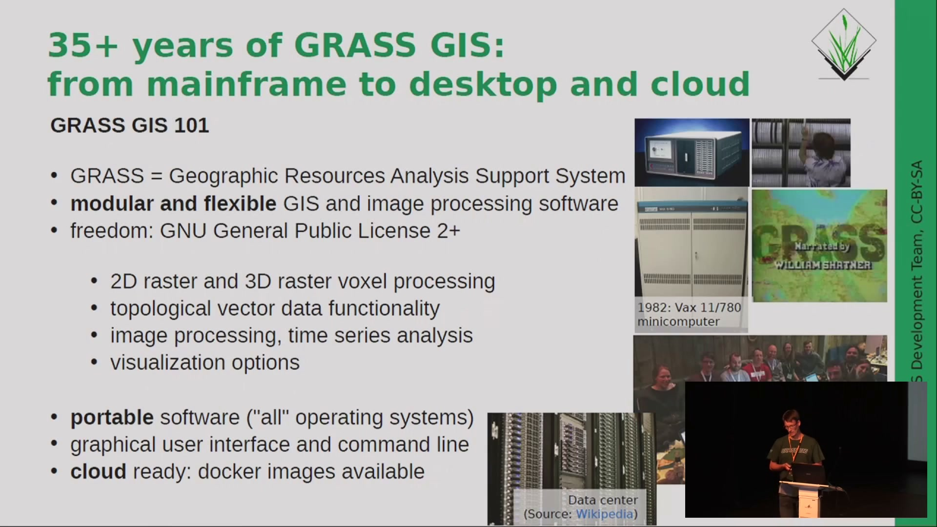 media ccc de - State of GRASS GIS Project: 35 years is nothing!