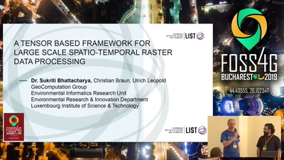 A Tensor Based Framework For Large Scale Spatio-Temporal Raster Data Processing