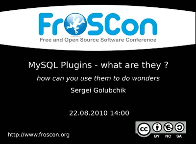 MySQL Plugins - what are they ?