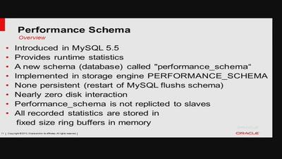 MySQL Performance Schema (MySQL 5.6)