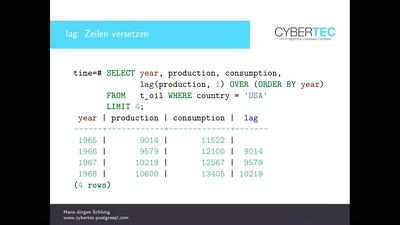 PostgreSQL: Zeitreihenanalyse