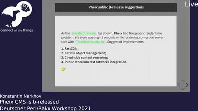 Pheix CMS is β-released