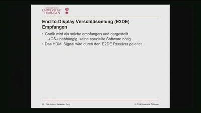 End-to-Display Verschlüsselung zur Absicherung von Industriespionage