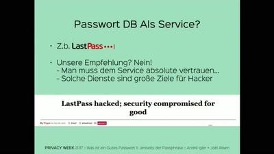 Was ist ein Gutes Passwort II: Jenseits der pass phrase