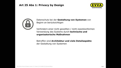 EVVA AirKey als Privacy-by-Design-Projekt