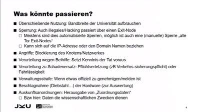 Erfahrungsbericht Tor Exit-Knoten in Österreich betreiben