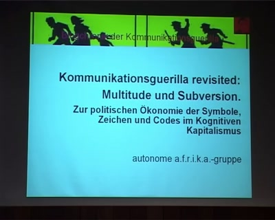 Kommunikationsguerilla revisited: Multitude und Subversion