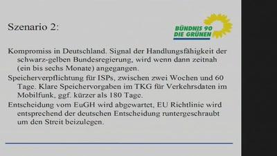 Stand der TK Datenspeicherung und VDS Debatte 2012