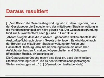 Transparenzgesetz - Quo Vadis?