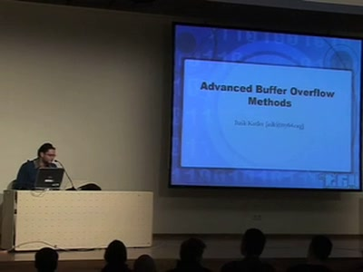 Advanced Buffer Overflow Methods [or] Smack the Stack