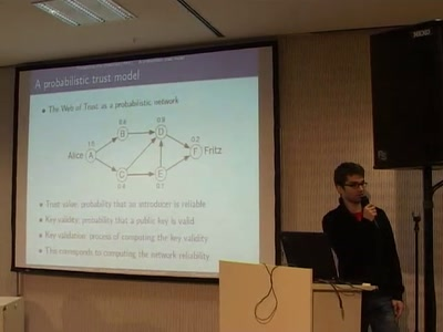 A Probabilistic Trust Model for GnuPG