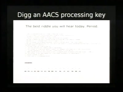 A Spotter's Guide to AACS Keys