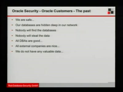 Latest trends in Oracle Security