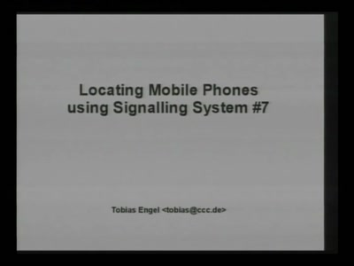 Locating Mobile Phones using SS7