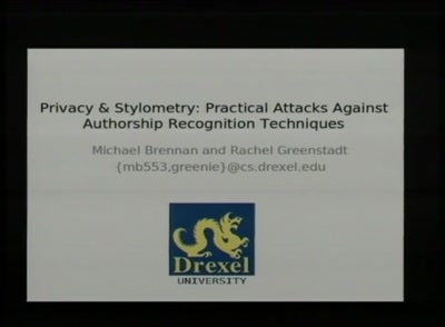 Privacy & Stylometry