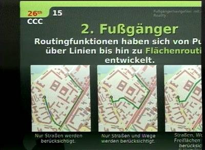 Fußgängernavigation mit Augmented Reality