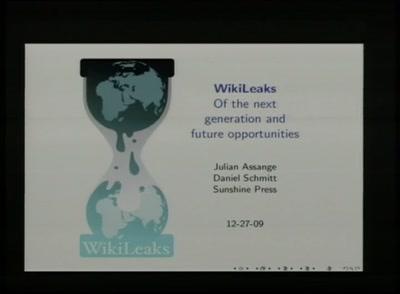 WikiLeaks Release 1.0