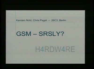 GSM: SRSLY?