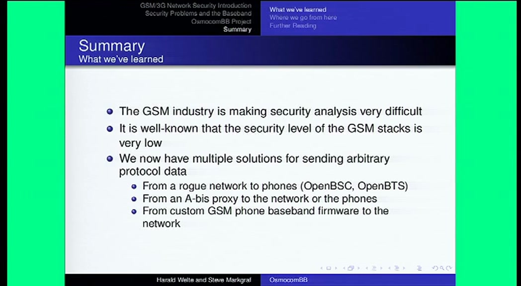 media ccc de - Running your own GSM stack on a phone