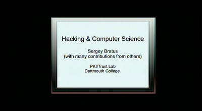 Hackers and Computer Science
