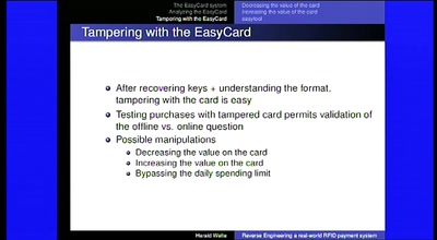 Reverse Engineering a real-world RFID payment system