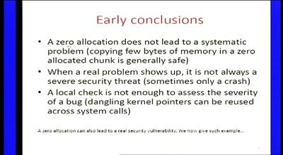 Zero-sized heap allocations vulnerability analysis